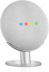 Caremoo Metal Pedestal Stand for Google Nest Mini (2nd Gen) and Google Home Mini (1st Gen), Sound Visibility and Appearance Improving, Desktop Mount Holder for Your Google Mini Voice Assistant