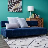 艾格莎沙發床 深藍色 人字紋抱枕 型號B188 H04-31/MY0107-1B