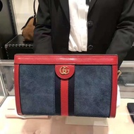 Gucci/古奇 18新款OPHIDIA手拿包鏈條單肩包磁扣包