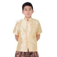 เสื้อไหมเด็กชาย เสื้อไหมเด็ก เสื้อไทยเด็ก ชุดไทยเด็ก ชุดไทยเด็กผู้ชาย RCTG