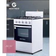 สินค้าคุณภาพดี ร้านแนะนำGESTREO เตาแก๊ส 4 หัว พร้อมเตาอบ รุ่น GS-K50-Q01W 4-Burner Gas Stove with Oven มีของในสต็อค