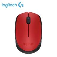 羅技 M171 無線滑鼠(紅)/無線/1000dpi/2.4G迷你接收器/左右手適用
