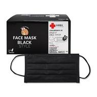 Lin Lian Bandages 利聯醫技 黑潮四層醫療用口罩-盒裝50入(黑色成人口罩)【小三美日】MD雙鋼印◢D160708