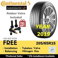 205/65R15 Continental ComfortContact CC6 (Installation) Tyre Tire WPT NIPPON Tayar Baru Pasang Kereta Wheel Rim 15