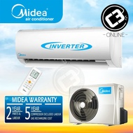 (Klang Valley) Midea 2.0HP 2.5HP Inverter Aircond BLANC Series MSMA Air Conditioner Wall Mounted Split R410a
