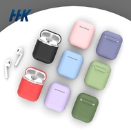 HHK366 Creative wireless bluetooth headset protective cover is suitable for Apple's second-generation airpods pure color silicone protective shell