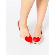 全新真品英國Vivienne Westwood For Melissa Queen高貴奢華珍珠白大愛心香香鞋