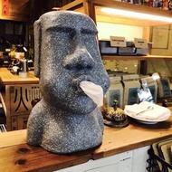 Fuguei 潮流生活工作室—摩艾 復活島石像 嘟嘴摩艾 衛生紙盒 面紙盒