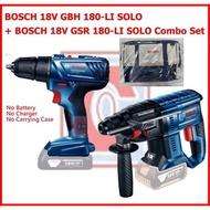 Bosch 18V Cordless Rotary Hammer Brushless GBH 180-LI SOLO +  Bosch 18V Cordless Drill/Driver GSR 180-LI SOLO Combo Set