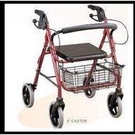 新品# 老年購物車 老年人手推代步車 帶輪帶座折疊助行器 拐杖手杖座椅【實圖拍攝】