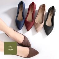 ร้านแนะนำ[สั่งเผื่อไซส์1]รองเท้าคัชชูหัวแหลม พื้นนิ่ม รุ่นซิลิโคน ใส่สบายA20 ใส่ได้ทั้งผู้หญิง
