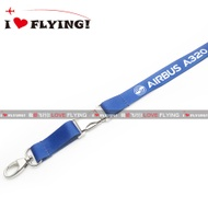UGG Flight | Europe Airbus A320 Civil Aviation Flight Unit Air Crew Boarding ID Card Lanyard