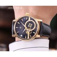 高清實拍 Patek Philippe 百達菲麗手錶  真牛皮皮帶 精緻款男士腕錶 頂級機械機芯 百達菲麗時尚商務手錶