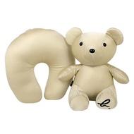 agnes b. - 小熊收納U型枕(米黃)/附收納防塵袋