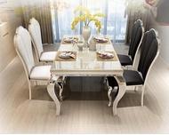 JIJI (Free Installation) Grandeus Marble Top Dining Table (Dining Table Only) (Dining Table)