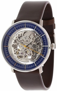 Fossil Men's Chase ME3162 Silver Leather Japanese Automatic Fashion Watch