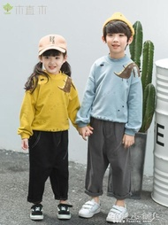 男童上衣 植木童裝兒童恐龍印花衛衣秋季韓版男女童圓領套頭上衣潮  傾城小鋪