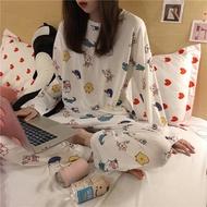 Pajamas Set Pajamas for Women Baju Tidur Perempuan Long Sleeve Women's Sleepwear