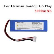 แบตเตอรี่ 3000 mAh สำหรับ Harman Kardon GO Play Go Play แบตเตอรี่ Batterie หมายเลขติดตาม