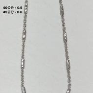 義大利14k金項鍊,40.5公分,0.5錢,保永不褪色。