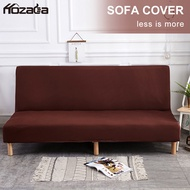 Hozada ผ้าคลุมโซฟา ผุ้าหุ้มโซฟา ปลอกโซฟา Sofa Covers Stretch Sofa Bed Covers Full Folding Armless Slipcovers Couch Protect Covers Solid Colors Elastic Removable Slipcovers for Folding Sofa Bed Cover 160-190cm