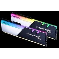 【一級棒】芝奇G.SKILL焰光戟 8G*2 雙通道 DDR4-3200 CL14(黑銀色)(F4-3200C14D-16GTZN)終身保固