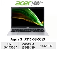 [2021 Model] Acer Aspire 3 A315-58-55S3(Silver) 15.6 Inches FHD Laptop | Intel Core i5-1135G7 | 8GB RAM