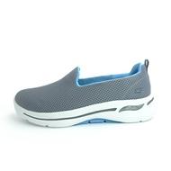SKECHERS GO WALK ARCH FIT 健走鞋 寬楦 足弓鞋墊 灰藍色 女生尺寸【124401WGYBL】
