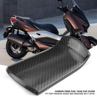 Motorcycle Scooter Carbon Fiber Fuel Gas Oil Tank Cap Cover for YAMAHA XMAX 300 XMAX300 17-18