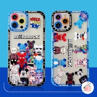 Cartoon XX BearBrick Mickey Phone Case for IPhone 12 11 Pro Max X Xs Max XR 8 7 Plus iPhonecase Soft TPU Mobile Cover