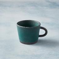 【有種創意食器】日本美濃燒 - 寬口圓柄馬克杯(青綠)