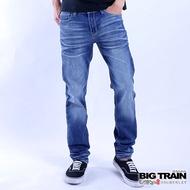 BIG TRAIN經典小直筒褲-中深藍-ZM7007-77
