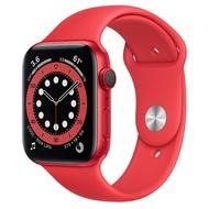 【現貨】Apple Watch S6 LTE 44mm 紅色鋁金屬-紅色運動型錶帶 神腦生活
