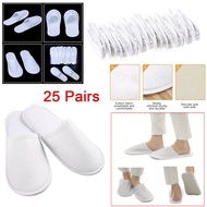 LICOPTE 25 Pairs Shower Closed Toe Bath Non-Slip Disposable Travel Slipper Spa Slippers Hotel Slippers Bathroom Set