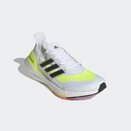 【adidas 愛迪達】ULTRABOOST 21 男 慢跑鞋 白黃(FY0377)