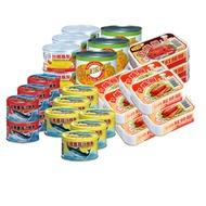 【台糖】罐頭超值30罐組(蕃茄汁鯖魚黃罐/蕃茄汁鯖魚紅罐/玉米粒/鳳梨罐/紅燒鰻/豆豉紅燒鰻)
