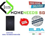 ELBA E230-002 I Built-In Induction Hob| 2 Zones Induction Hob |Sensor Touch Control | Free Delivery