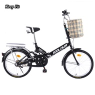 Folding bike woman light portable small wheel speed 20-inch 16 adult male adults to work,