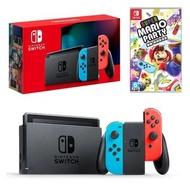 Switch - 任天堂 主機 連 Mario Party 遊戲套裝 [新型電力加強版] (送螢幕保護貼)