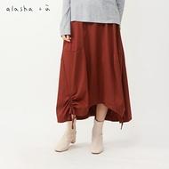 a la sha+a波浪立體感抽繩褲裙
