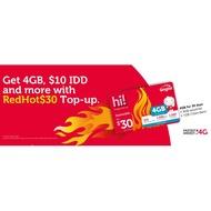 Singtel Prepaid E-Top Up Redhot $30