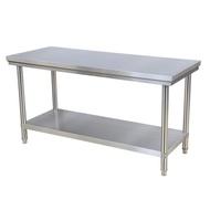 工作台 加厚不銹鋼工作台雙層家用廚房操作桌子面專用案板打荷台打包