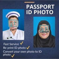 GAMBAR UKURAN PASSPORT ID photo service re-print /edit background convert. Cuci Gambar Ukuran ID Passport