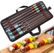【露營趣】TNR-181 不鏽鋼烤肉叉 烤肉叉 烤肉串叉 雙針烤肉叉 肉串叉 BBQ 焚火台必備