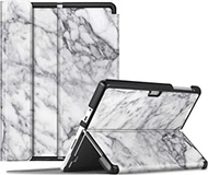 Fintie Case for Surface Go 2 - Multiple Angle Hard Shell Business Cover for Microsoft Surface Go 2 2020 / Surface Go 2018 10-inch Tablet, Compatible with Type Cover Keyboard (Marble White)