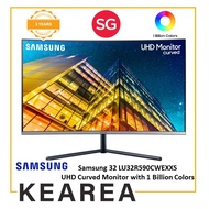 Samsung 32 LU32R590CWEXXS UHD Curved Monitor with 1 Billion Colors (3 year onsite warranty)