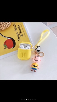 Airpods Case - Airpods Silicon Case - Casse Airpods Gantungan Snoopy