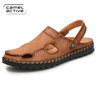 Camel Active 2017 Summer New Brand Men's Sandals Designer Genuine Leather Mens Cowhide Slippers Fashion Man Beach Shoes