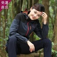 衝鋒衣新款戶外登山沖鋒衣男女進西藏薄款外套防水防風保暖單層登山服裝【快速出貨】