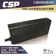 CSP 哇電 SWB 48V 2A 電動車電池充電器 鉛酸電池充電 電動腳踏車 無人搬運車 代步車 哈家人